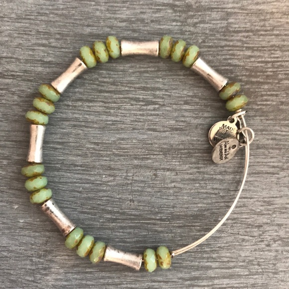 Alex and Ani Jewelry - ALEX AND ANI rustic green beaded bracelet